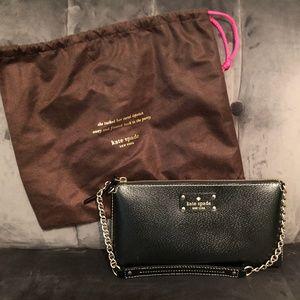 Kate Spade Wellesley Byrd Clutch Black Leather